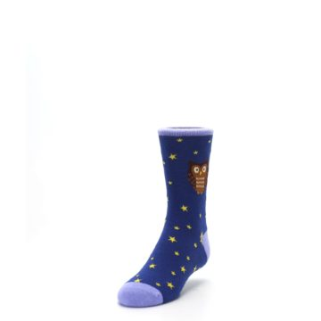 Image of Blue Brown Hoot Owl Kid's Dress Socks (side-2-front-07)