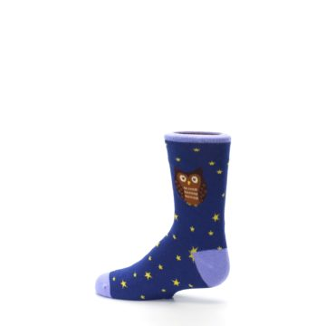 Image of Blue Brown Hoot Owl Kid's Dress Socks (side-2-13)