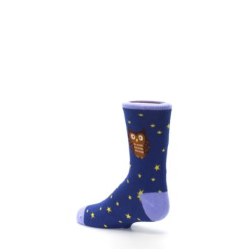 Image of Blue Brown Hoot Owl Kid's Dress Socks (side-2-back-14)