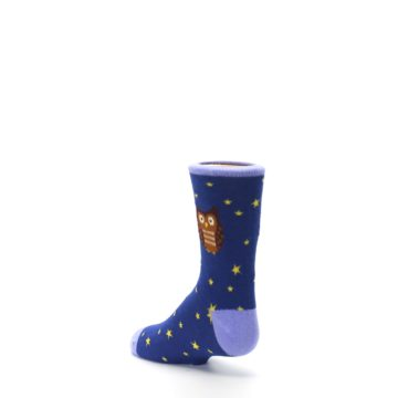 Image of Blue Brown Hoot Owl Kid's Dress Socks (side-2-back-15)