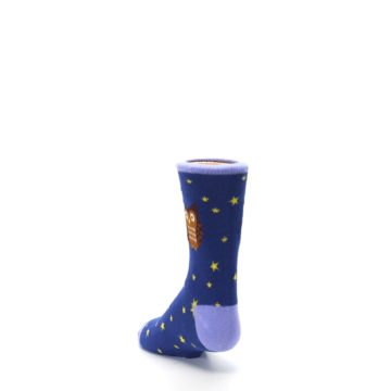 Image of Blue Brown Hoot Owl Kid's Dress Socks (side-2-back-16)