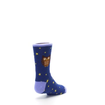 Image of Blue Brown Hoot Owl Kid's Dress Socks (side-1-back-21)