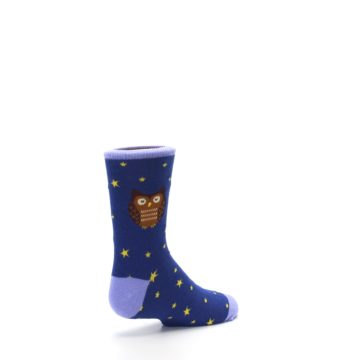 Image of Blue Brown Hoot Owl Kid's Dress Socks (side-1-back-22)