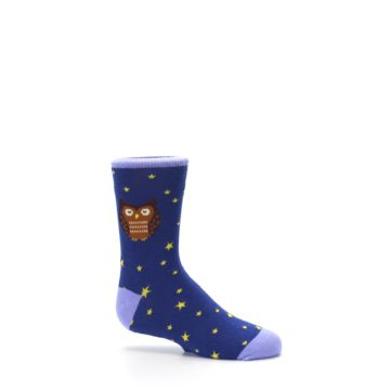 Image of Blue Brown Hoot Owl Kid's Dress Socks (side-1-25)