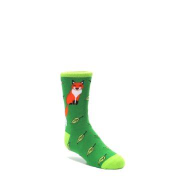 Green-Fox-on-Sox-Kids-Dress-Socks-Socksmith