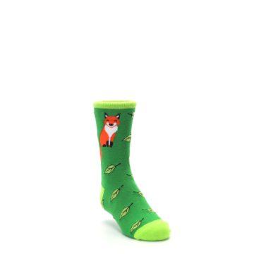 Image of Green Fox on Sox Kid's Dress Socks (side-1-front-02)