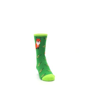 Image of Green Fox on Sox Kid's Dress Socks (side-1-front-03)