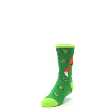 Image of Green Fox on Sox Kid's Dress Socks (side-2-front-07)