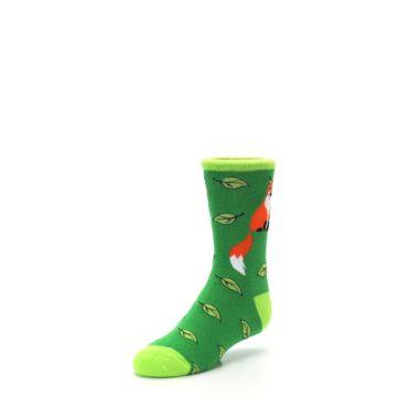 Image of Green Fox on Sox Kid's Dress Socks (side-2-front-08)