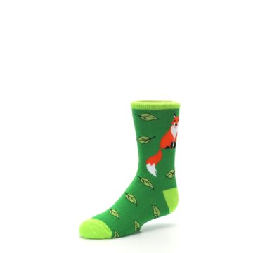 Image of Green Fox on Sox Kid's Dress Socks (side-2-09)