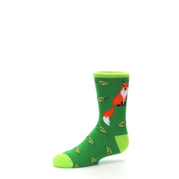 Image of Green Fox on Sox Kid's Dress Socks (side-2-10)