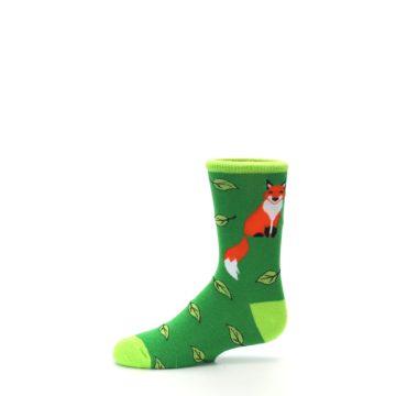 Image of Green Fox on Sox Kid's Dress Socks (side-2-11)