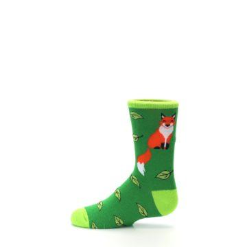 Image of Green Fox on Sox Kid's Dress Socks (side-2-12)