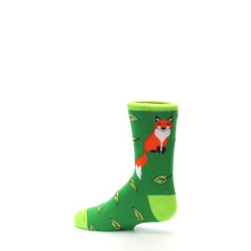 Image of Green Fox on Sox Kid's Dress Socks (side-2-13)
