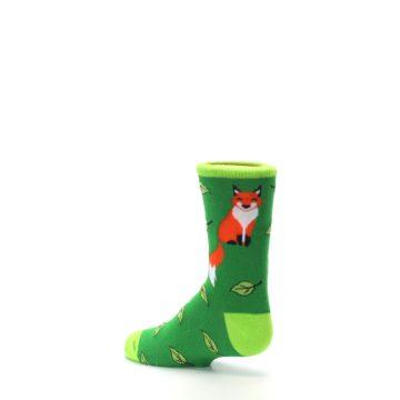 Image of Green Fox on Sox Kid's Dress Socks (side-2-back-14)