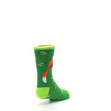 Image of Green Fox on Sox Kid's Dress Socks (side-1-back-21)