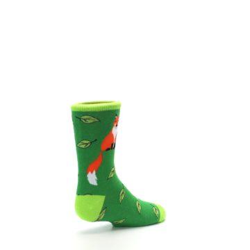 Image of Green Fox on Sox Kid's Dress Socks (side-1-back-22)