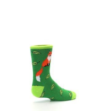 Image of Green Fox on Sox Kid's Dress Socks (side-1-23)