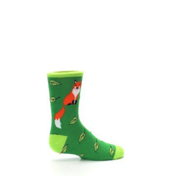 Image of Green Fox on Sox Kid's Dress Socks (side-1-24)