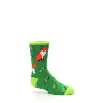 Image of Green Fox on Sox Kid's Dress Socks (side-1-25)