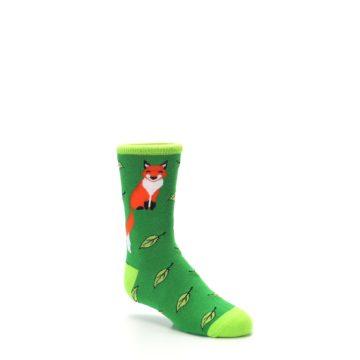 Image of Green Fox on Sox Kid's Dress Socks (side-1-27)