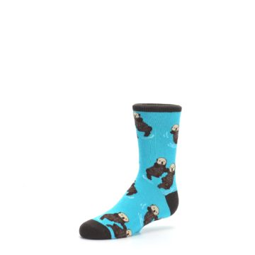 Image of Blue Significant Otter Kid's Dress Socks (side-2-09)