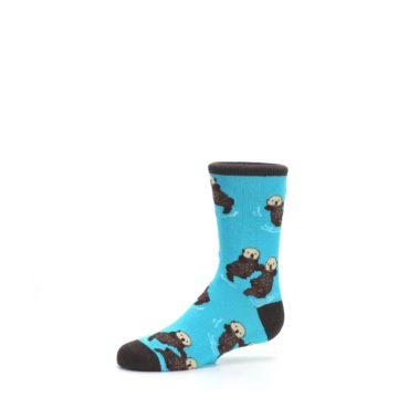 Image of Blue Significant Otter Kid's Dress Socks (side-2-10)