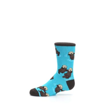 Image of Blue Significant Otter Kid's Dress Socks (side-2-11)