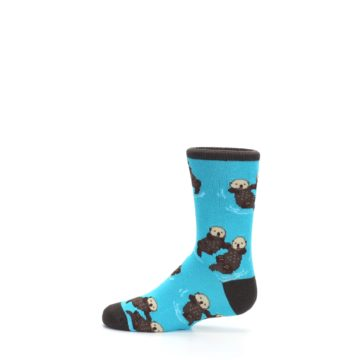 Image of Blue Significant Otter Kid's Dress Socks (side-2-12)