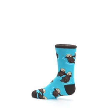Image of Blue Significant Otter Kid's Dress Socks (side-2-13)