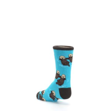 Image of Blue Significant Otter Kid's Dress Socks (side-2-back-15)