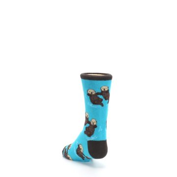 Image of Blue Significant Otter Kid's Dress Socks (side-2-back-16)