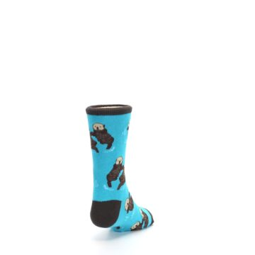 Image of Blue Significant Otter Kid's Dress Socks (side-1-back-20)