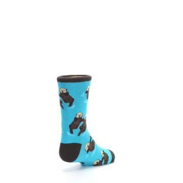 Image of Blue Significant Otter Kid's Dress Socks (side-1-back-21)