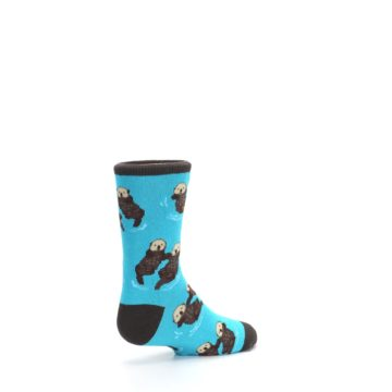 Image of Blue Significant Otter Kid's Dress Socks (side-1-back-22)