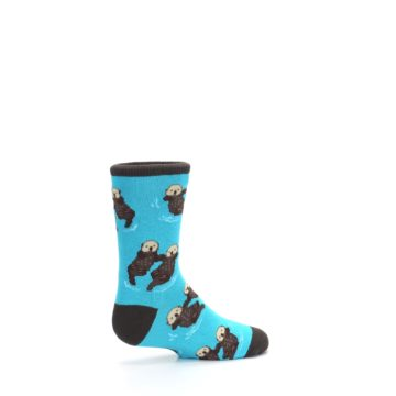 Image of Blue Significant Otter Kid's Dress Socks (side-1-23)
