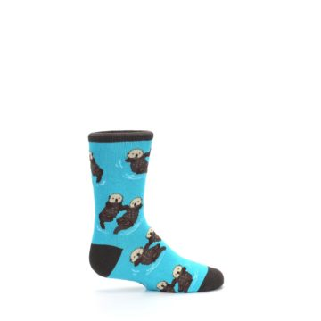Image of Blue Significant Otter Kid's Dress Socks (side-1-24)