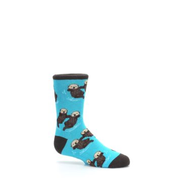 Image of Blue Significant Otter Kid's Dress Socks (side-1-25)