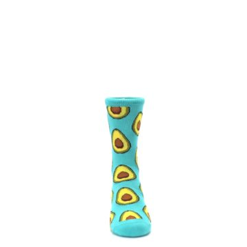 Image of Aqua Blue Avocado Kid's Dress Socks (front-04)