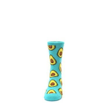 Image of Aqua Blue Avocado Kid's Dress Socks (front-05)