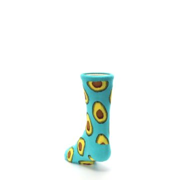 Image of Aqua Blue Avocado Kid's Dress Socks (side-2-back-16)