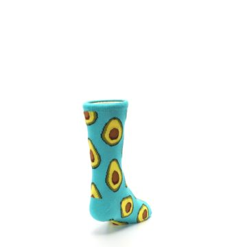 Image of Aqua Blue Avocado Kid's Dress Socks (side-1-back-20)
