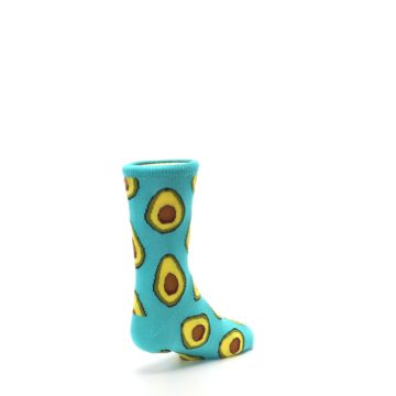 Image of Aqua Blue Avocado Kid's Dress Socks (side-1-back-21)