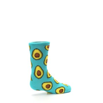 Image of Aqua Blue Avocado Kid's Dress Socks (side-1-23)