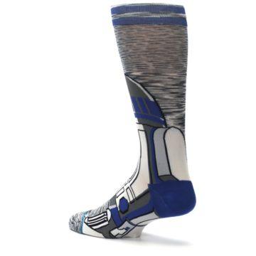Image of Gray Blue R2-D2 Star Wars Men's Casual Socks (side-2-back-14)