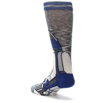 Image of Gray Blue R2-D2 Star Wars Men's Casual Socks (side-2-back-15)