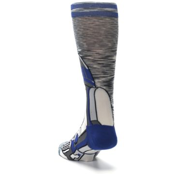 Image of Gray Blue R2-D2 Star Wars Men's Casual Socks (side-2-back-16)