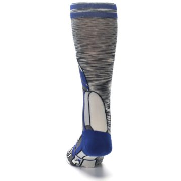 Image of Gray Blue R2-D2 Star Wars Men's Casual Socks (back-17)