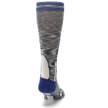 Image of Gray Blue R2-D2 Star Wars Men's Casual Socks (back-19)