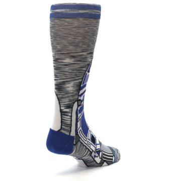 Image of Gray Blue R2-D2 Star Wars Men's Casual Socks (side-1-back-21)